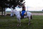 Andi auf einem echten Gaucho-Pferd
